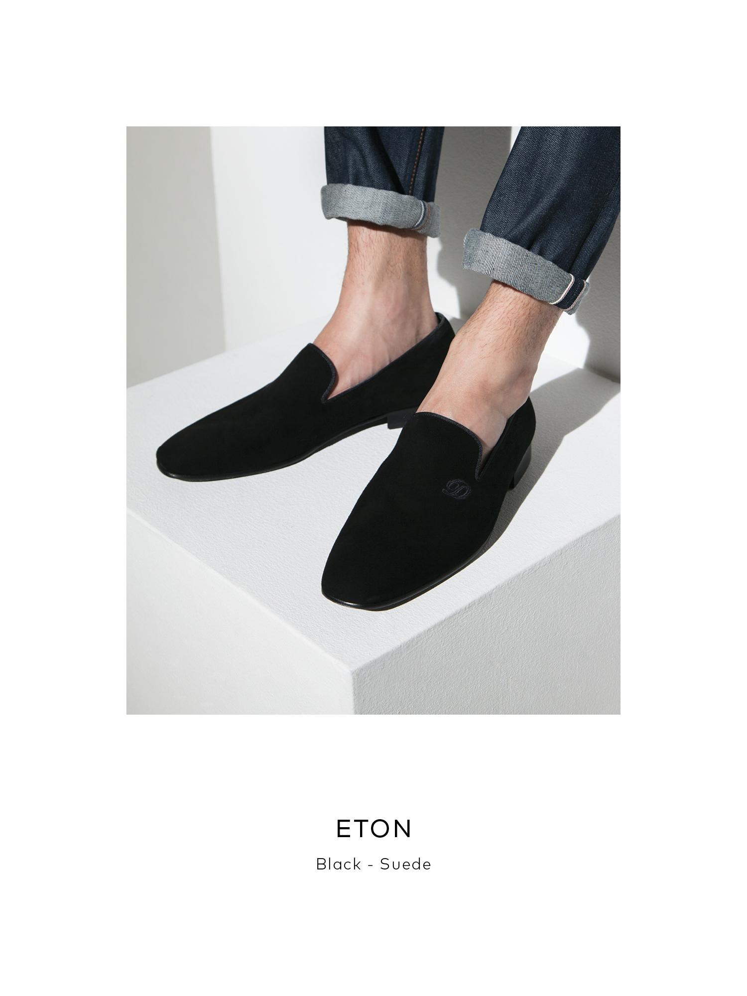 Eton, Black - Suede