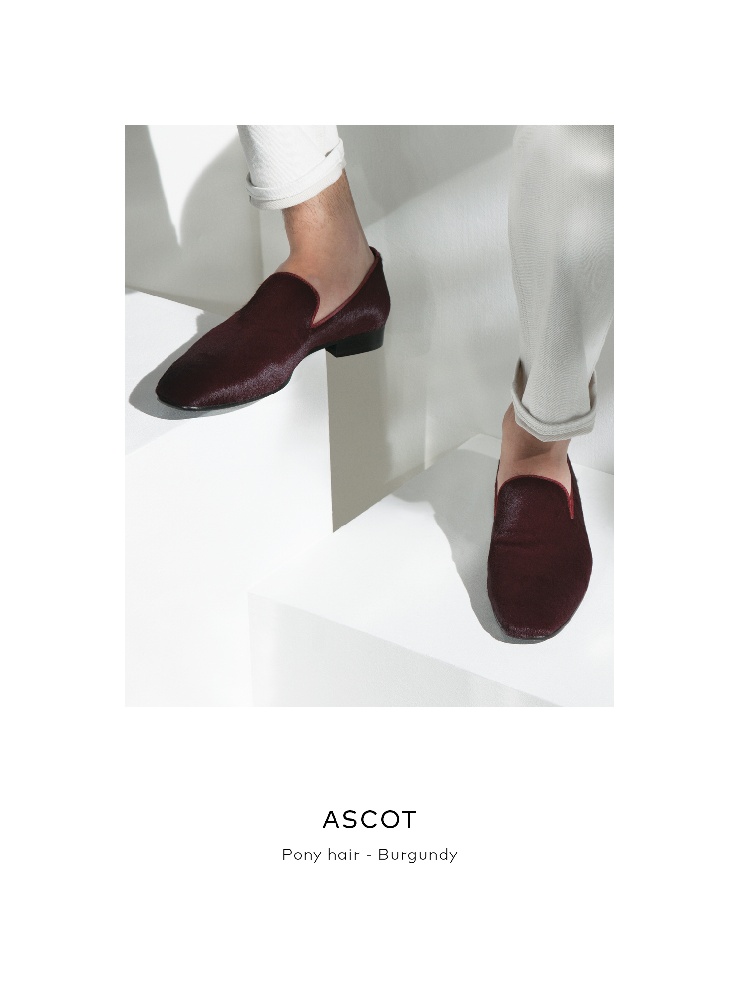 Ascot, Pony Hair - Burgundy