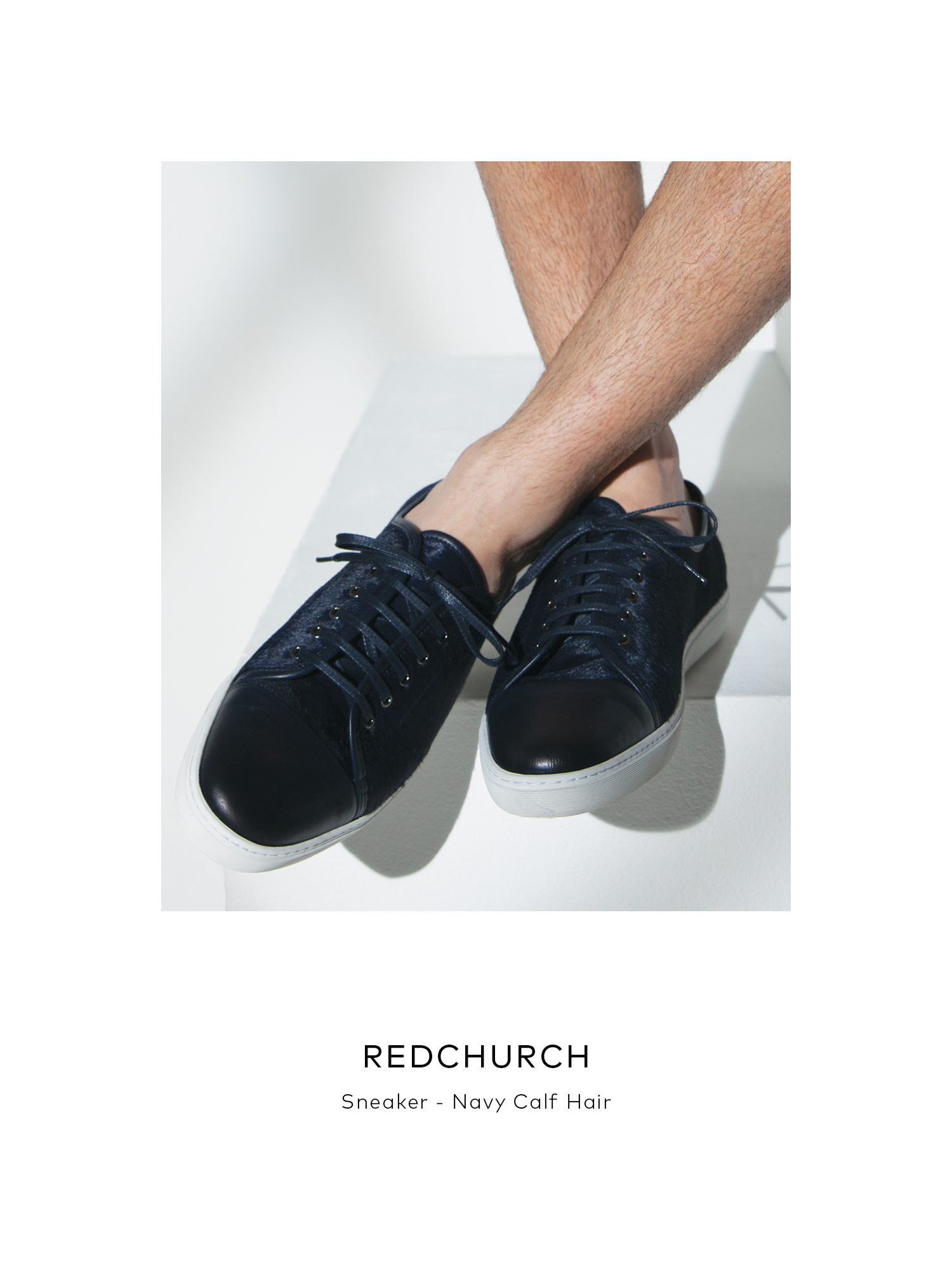 Redchurch - Navy Calf Hair