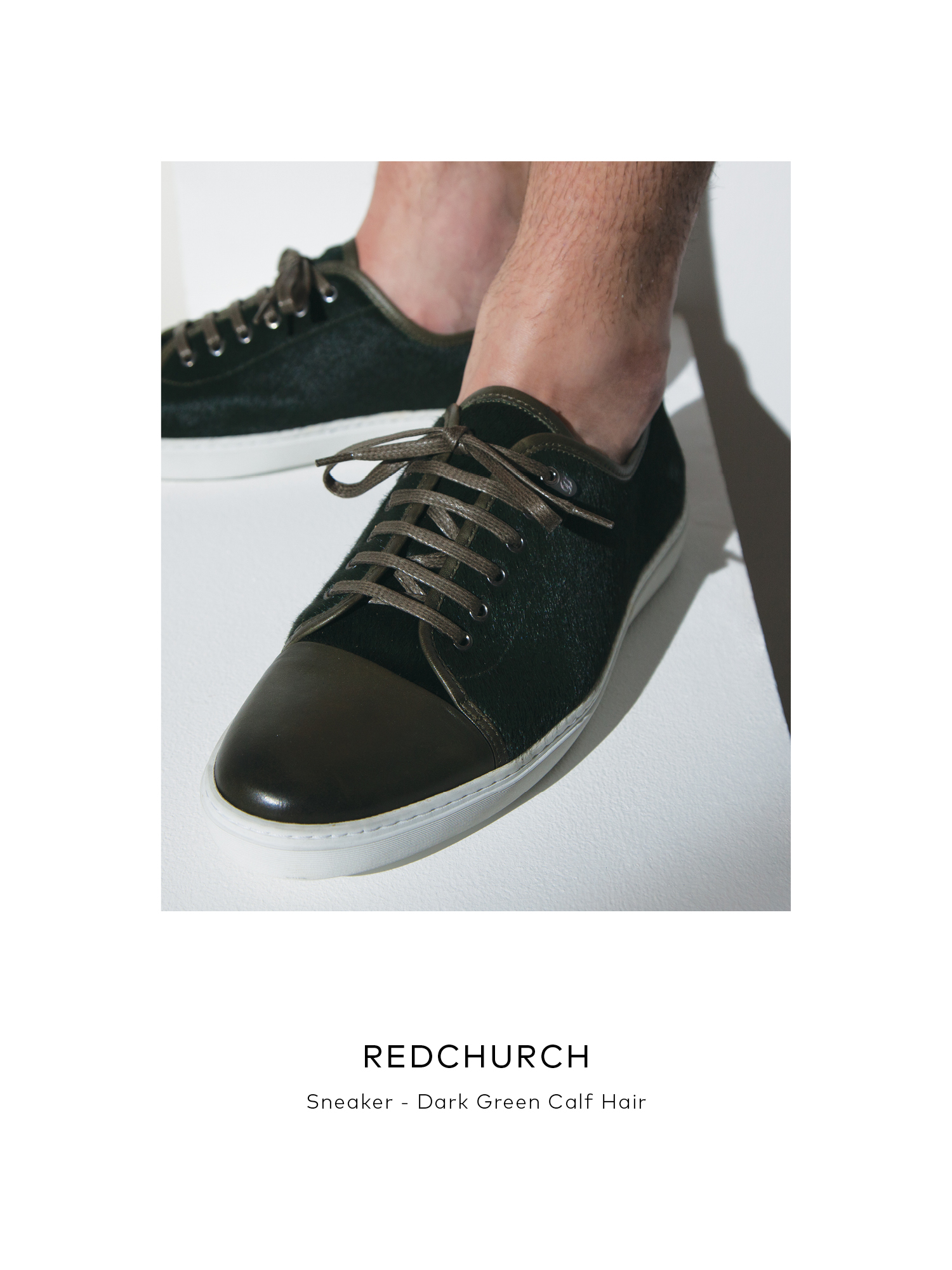 Redchurch - Dark Green Calf Hair